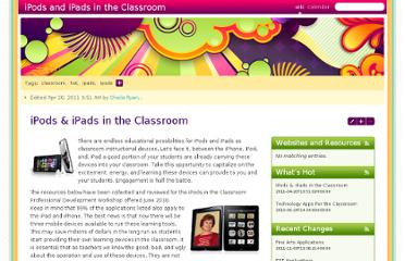 http://teacher.ocps.net/groups/ipodsintheclassroom/