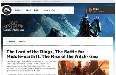 http://www.ea.com/lotr-the-battle-for-middle-earth-2