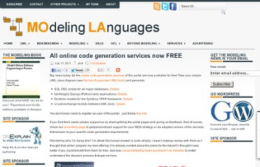 http://modeling-languages.com/all-online-code-generation-services-now-free/