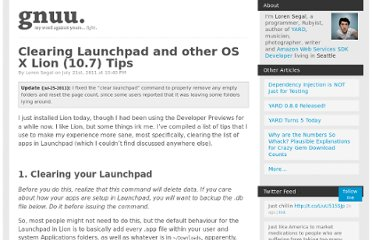 http://gnuu.org/2011/07/21/clearing-launchpad-and-other-osx-lion-tips/