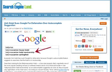 http://searchengineland.com/irish-hotel-sues-google-for-defamation-over-autocomplete-suggestion-81492