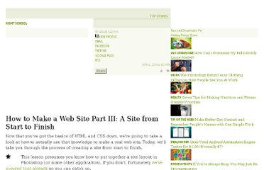 http://lifehacker.com/5789568/how-to-make-a-web-site-part-iii-a-site-from-start-to-finish