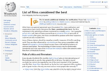 http://en.wikipedia.org/wiki/List_of_films_considered_the_best#Comedy