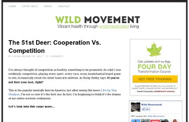 http://www.wildmovement.com/the-51st-deer-cooperation-vs-competition/