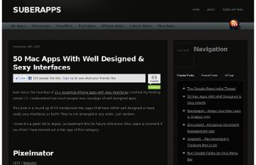 http://www.suberapps.com/desktop-apps/50-mac-apps-with-well-designed-and-sexy-interfaces/