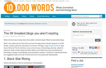 http://www.mediabistro.com/10000words/99-greatest-blogs-you-arent-reading_b364