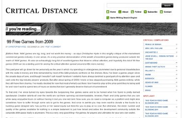 http://www.critical-distance.com/2009/12/24/99-free-games-from-2009/