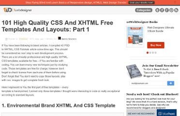http://www.1stwebdesigner.com/freebies/101-high-quality-css-and-xhtml-free-templates-and-layouts-part-1-2/