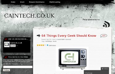 http://caintechnews.wordpress.com/2009/04/22/64-things-every-geek-should-know/