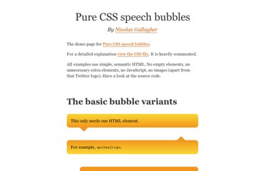 http://nicolasgallagher.com/pure-css-speech-bubbles/demo/
