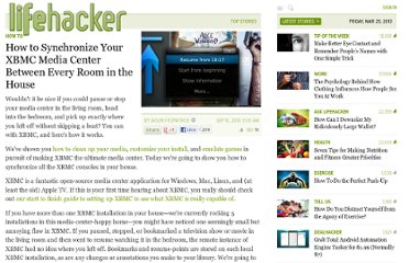 http://lifehacker.com/5634515/how-to-synchronize-your-xbmc-media-center-across-every-room-in-the-house