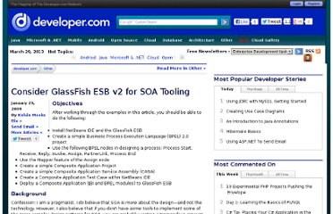 http://www.developer.com/java/ent/article.php/3799641/Consider-GlassFish-ESB-v2-for-SOA-Tooling.htm