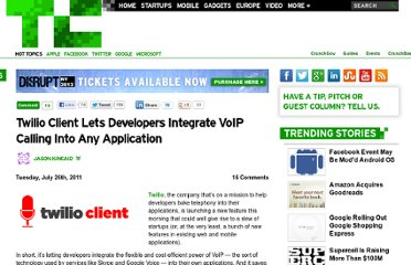 http://techcrunch.com/2011/07/26/twilio-client-lets-developers-integrate-voip-calling-into-any-application/
