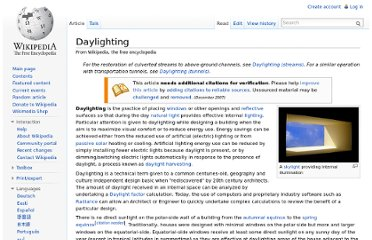 http://en.wikipedia.org/wiki/Daylighting