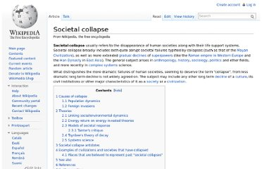 http://en.wikipedia.org/wiki/Societal_collapse