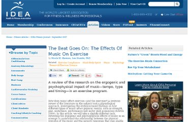 http://www.ideafit.com/fitness-library/beat-goes-effects-music-exercise