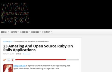 http://www.webresourcesdepot.com/23-amazing-and-open-source-ruby-on-rails-applications/
