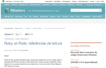 http://imasters.com.br/artigo/20334/ruby-on-rails/ruby-on-rails-referencias-de-leitura