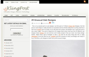 http://klingpost.com/25-unusual-usb-designs/