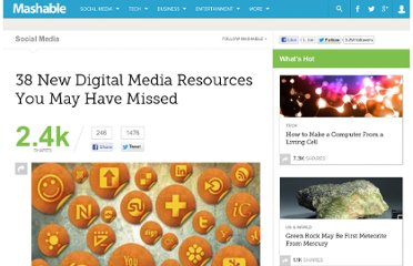 http://mashable.com/2011/07/30/digital-media-resources-25/