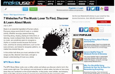 http://www.makeuseof.com/tag/7-websites-music-lover-find-discover-learn-music/