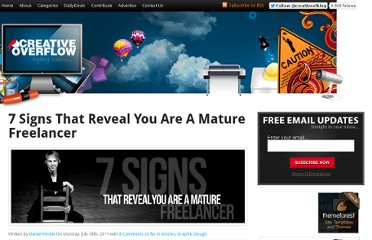 http://creativeoverflow.net/7-signs-that-reveal-you-are-a-mature-freelancer/