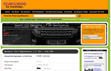 http://www.carpages.co.uk/guide/renault/renault-clio-expression-1.2-16v.asp