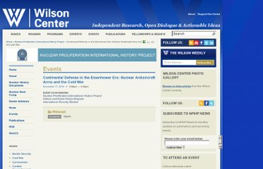 http://www.wilsoncenter.org/event/continental-defense-the-eisenhower-era-nuclear-antiaircraft-arms-and-the-cold-war