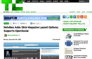 http://techcrunch.com/2008/12/08/netvibes-adds-slick-magazine-layout-options-supports-opensocial/