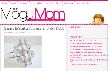 http://www.themogulmom.com/2010/01/5-ways-to-start-a-business-for-under-1000/
