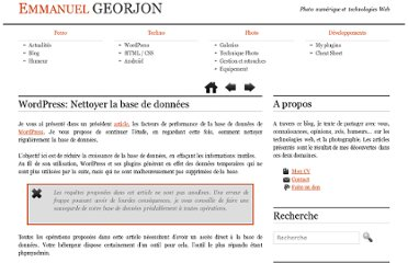 http://www.emmanuelgeorjon.com/wordpress-nettoyer-la-base-de-donnees-807/