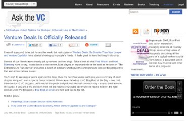 http://www.askthevc.com/wp/archives/2011/07/venture-deals-is-officially-released.html
