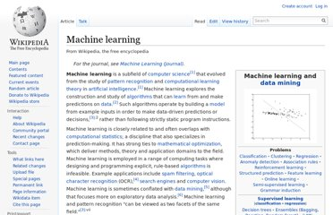 http://en.wikipedia.org/wiki/Machine_learning