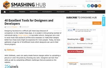 http://smashinghub.com/40-excellent-tools-for-designers-and-developers.htm