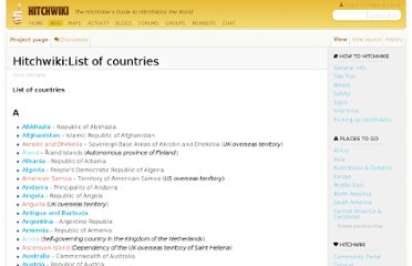 http://hitchwiki.org/en/Hitchwiki:List_of_countries