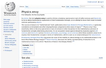 http://en.wikipedia.org/wiki/Physics_envy