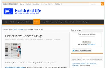 http://healthlifeandstuff.com/2010/02/list-of-new-cancer-drugs/