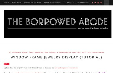 http://theborrowedabode.com/2011/01/tutorial-window-frame-jewelry-display/