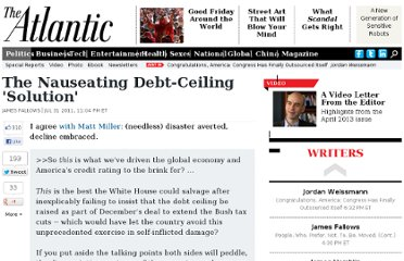 http://www.theatlantic.com/politics/archive/2011/07/the-nauseating-debt-ceiling-solution/242852/