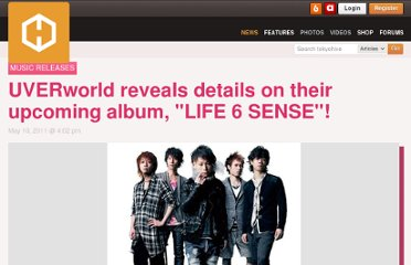 http://www.tokyohive.com/2011/05/uverworld-reveals-details-on-their-upcoming-album-life-6-sense/