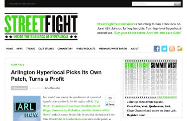 http://streetfightmag.com/2011/07/20/arlington-indie-hyperlocal-picks-its-own-patch-turns-a-profit/