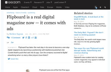 http://gigaom.com/2011/07/25/flipboard-is-a-real-digital-magazine-now-it-comes-with-ads/
