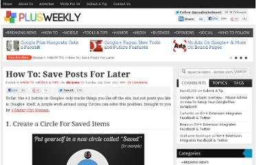 http://plusweek.ly/how-to-save-posts-for-later/