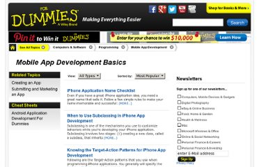 http://www.dummies.com/how-to/computers-software/programming/Mobile-App-Development/App-Development-Basics.html