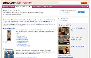 http://diyfashion.about.com/od/diyskirts/tp/Free_Dress_Patterns.htm