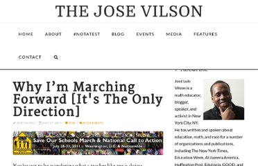 http://thejosevilson.com/2011/07/17/why-im-marching-forward-its-the-only-direction/