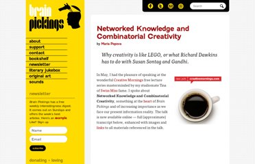 http://www.brainpickings.org/index.php/2011/08/01/networked-knowledge-combinatorial-creativity/