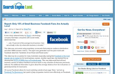 http://searchengineland.com/report-only-15-of-small-business-facebook-fans-are-actually-local-87698
