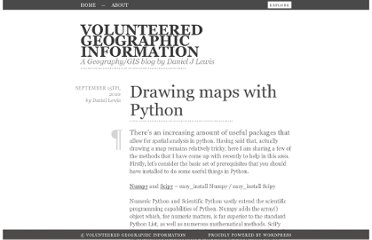 http://danieljlewis.org/2010/09/15/drawing-maps-with-python/
