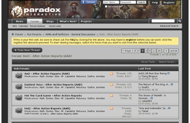 http://forum.paradoxplaza.com/forum/forumdisplay.php?435-HoI3-After-Action-Reports-(AAR)&s=49c253a49697db7f86b8d386b47b82b0